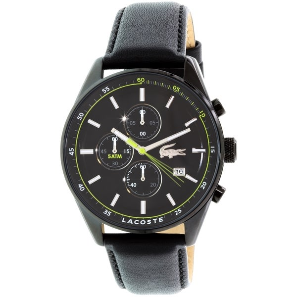 Lacoste Men's Dublin 2010785 Black Leather Quartz Watch