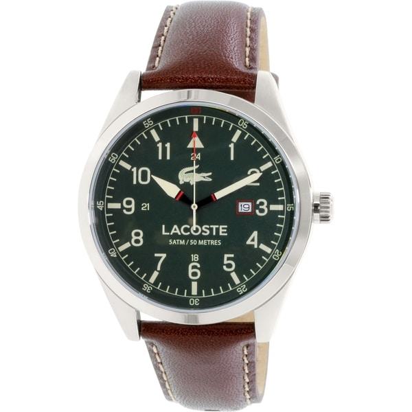 Lacoste Men's Montreal 2010781 Brown Leather Quartz Watch