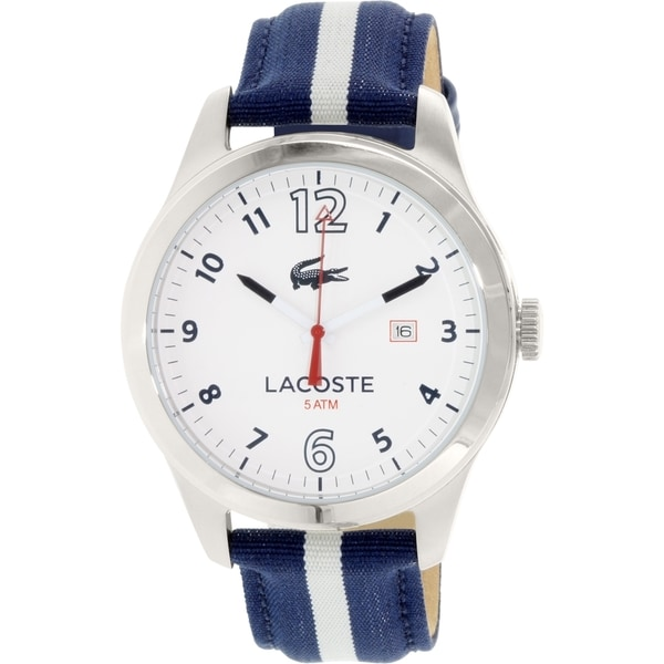 Lacoste Men's Auckland 2010722 Blue Leather Quartz Watch