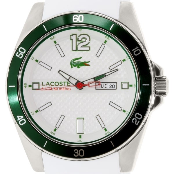 Lacoste Men's Seattle 2010802 White Silicone Quartz Watch