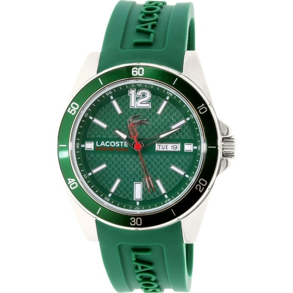 Lacoste Men's Seattle 2010800 Green Silicone Quartz Watch