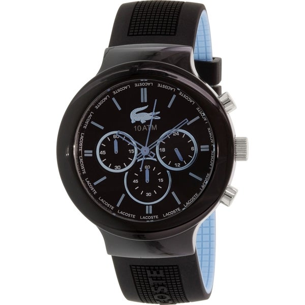 Lacoste Men's Borneo 2010720 Black Silicone Quartz Watch