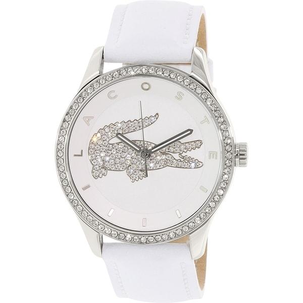 Lacoste Women's Victoria 2000819 White Leather Quartz Watch