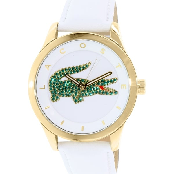 Lacoste Women's Victoria 2000894 White Leather Quartz Watch