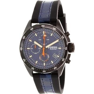 Fossil Men's Decker CH2960 Black Silicone Quartz Watch