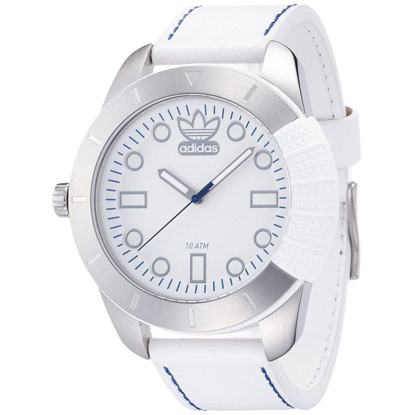 Adidas Men's Originals ADH3036 White Leather Quartz Watch