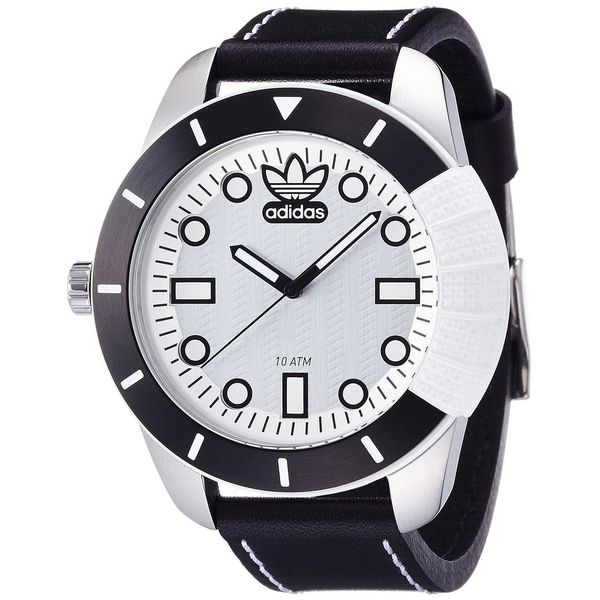 Adidas Men's Originals ADH3037 Black Leather Quartz Watch