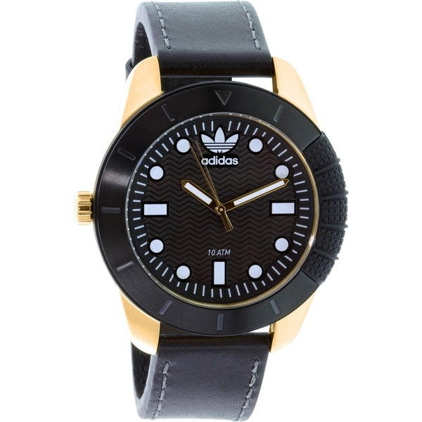 Adidas Men's Originals ADH3039 Black Leather Quartz Watch