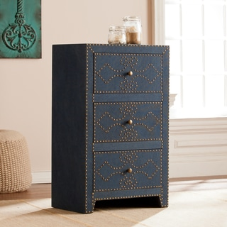Upton Home Timson Navy 3-Drawer Cabinet