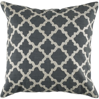 Rizzy Home 18-inch Quatrefoil Throw Pillow