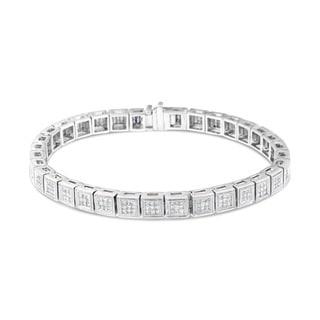 White Gold 2.8 CTW Round Diamond Cut Bracelet (HI, Si1-Si2)