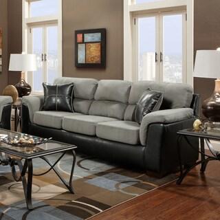 Laredo 2-tone Sofa, Black and Grey