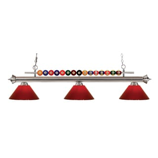 Z-Lite Shark 3-light Island/Billiard Red-finished Light