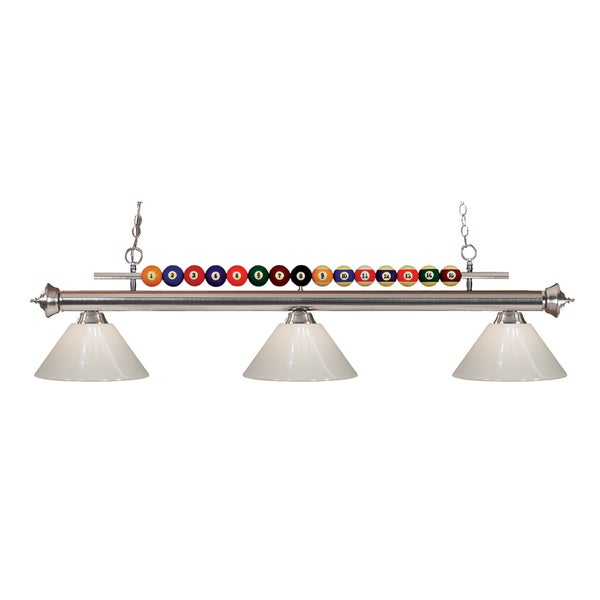 Z-Lite Shark 3-light Island/Billiard White-finished Light