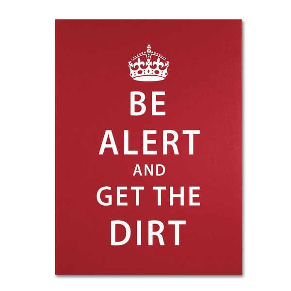 Megan Romo 'Alert Dirt Marooned' Canvas Art