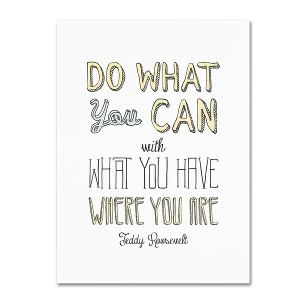 Megan Romo 'Do What You Can' Canvas Art