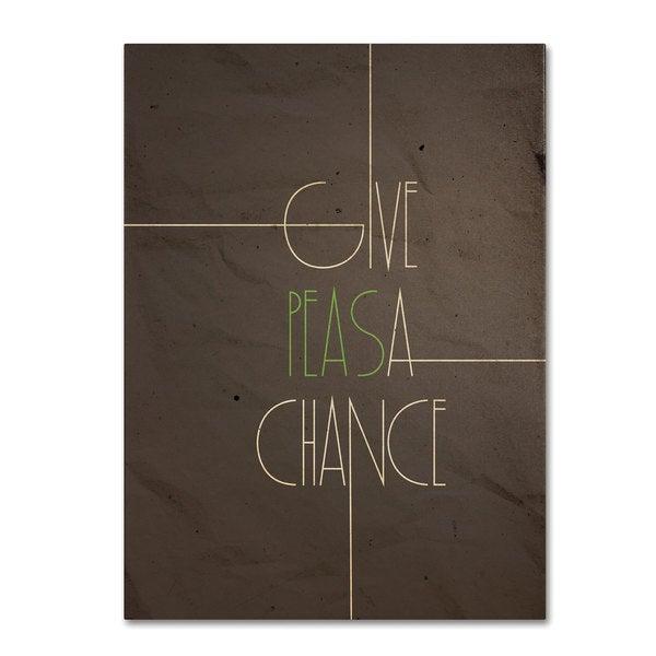 Megan Romo 'Give Peas a Chance' Canvas Art