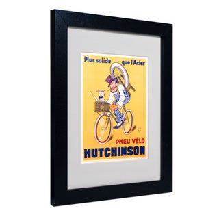 Mitch Liebeaux 'Hutchinson Tires 1937' White Matte, Black Framed Wall Art