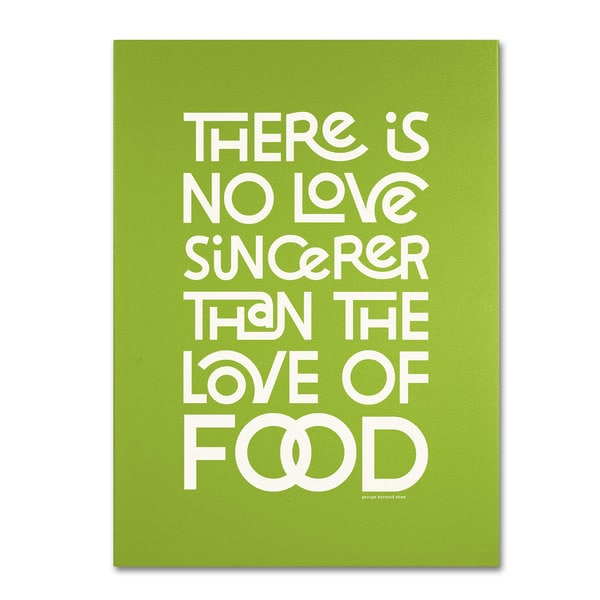 Megan Romo 'Sincere Love of Food' Canvas Art