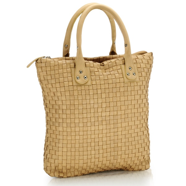 Phive Rivers Tan Leather Tote Handbag (Italy)