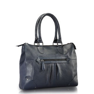 Phive Rivers Blue Leather Shoulder Handbag (Italy)