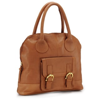 Phive Rivers Tan Leather Handbag (Italy)
