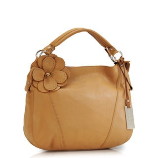 Phive Rivers Tan Leather Hobo Handbag (Italy)