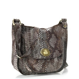 Phive Rivers Brown Leather Crossbody Handbag (Italy)