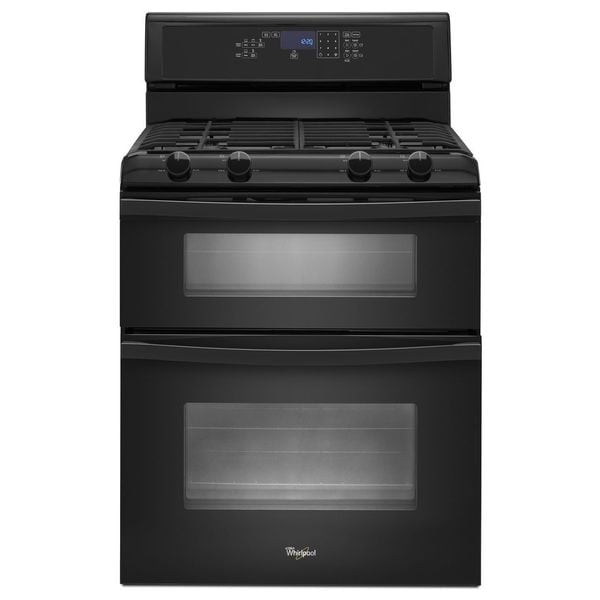 Whirlpool 30 inch freestanding gas double oven with convection 17544008 - Gas stove double oven reviews ...