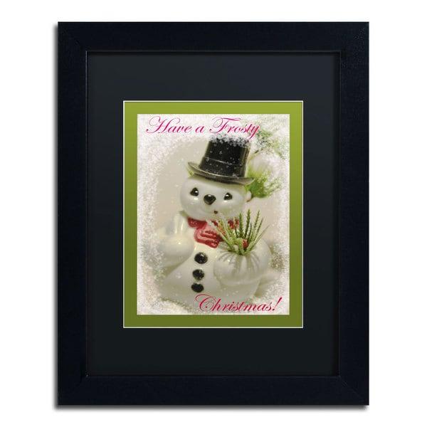 Patty Tuggle Snowman' Black Matte, Black Framed Wall Art