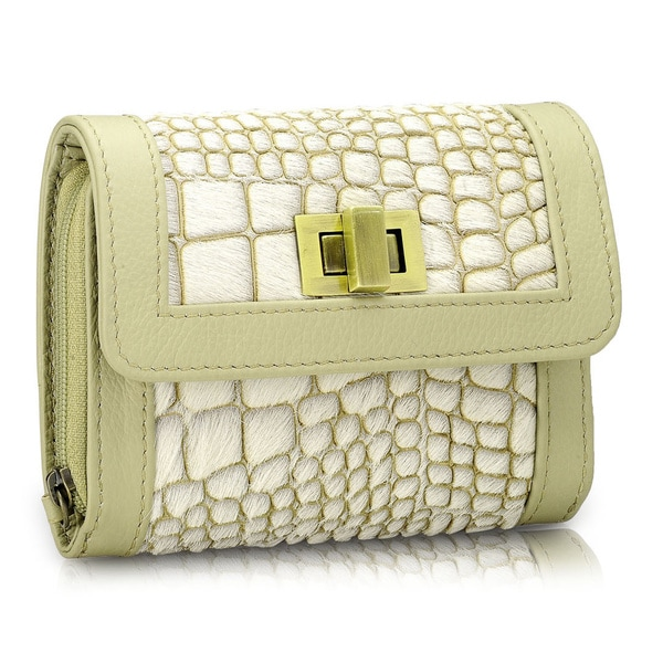 Phive Rivers White Leather Wallet (Italy)
