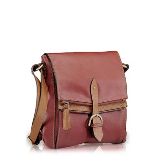 Phive Rivers Red Leather Crossbody Handbag (Italy)
