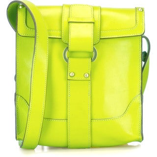 Phive Rivers Green Leather Crossbody Handbag (Italy)