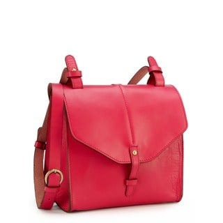 Phive Rivers Pink Leather Crossbody Handbag (Italy)