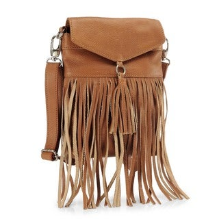 Phive Rivers Tan Leather Sling Handbag (Italy)