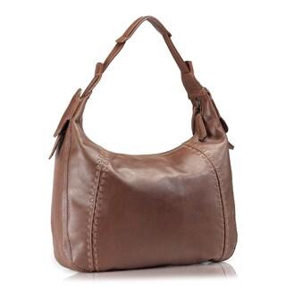 Phive Rivers Brown Leather Hobo Handbag (Italy)