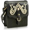 Phive Rivers Black Leather Sling Handbag (Italy)