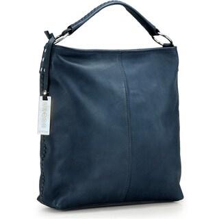 Phive Rivers Blue Leather Hobo Handbag (Italy)