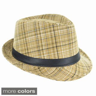Faddism Fashion Plaid Fedora Hat