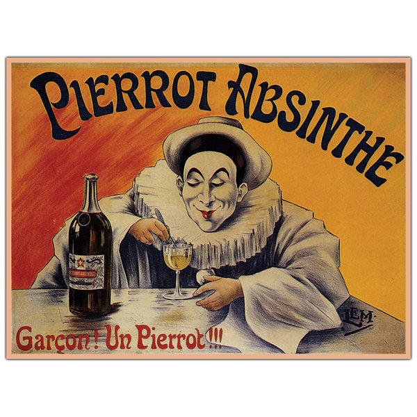 'Pierrot Absinthe Garcon' Canvas Art
