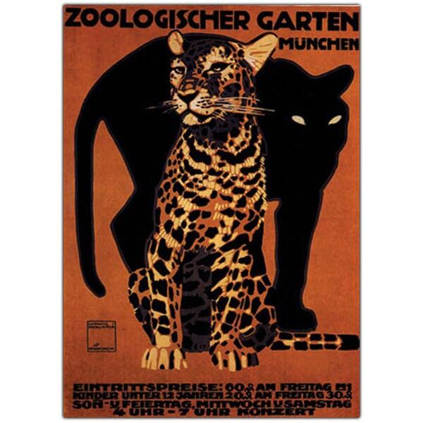 'Zoologischer Garten Munchin' Canvas Art