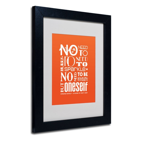 Megan Romo 'No Need to Sparkle I' White Matte, Black Framed Wall Art