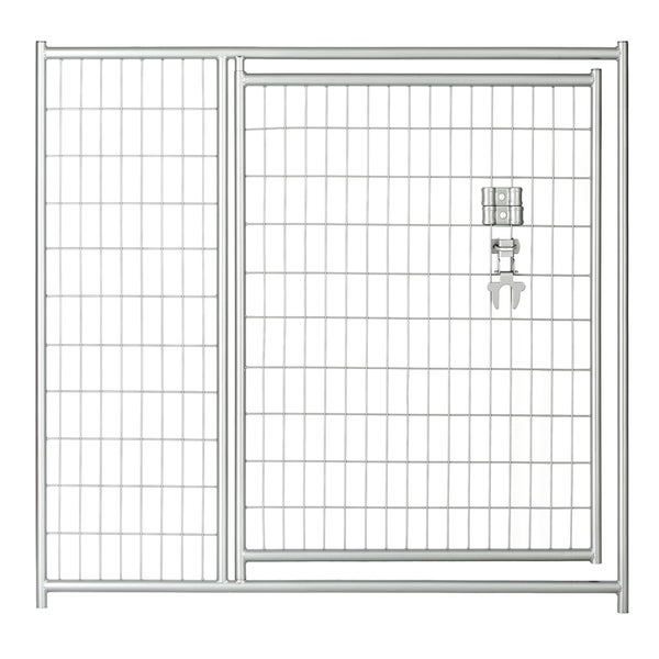 Lucky Dog 4'x5' Silver Welded Wire Modular Gate