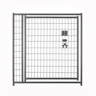 Lucky Dog 4'x4' Black Welded Wire Gate