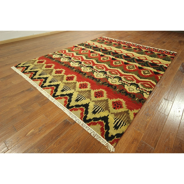 Uniquely Modern Rugs: Hand-knotted Wool Oriental Unique Modern Design Area Rug