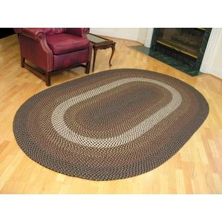 America West Indoor/ Outdoor Oval Braided Rug (5' x 8')