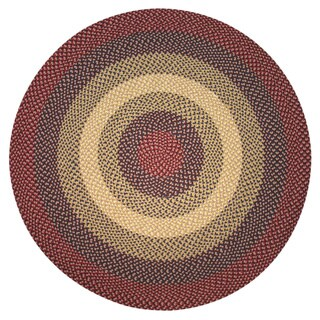 America West Indoor/ Outdoor Round Braided Rug (6' Round)