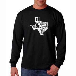 Men's Los Angeles Pop Art 'Everything is Bigger in Texas' Long Sleeve T-Shirt