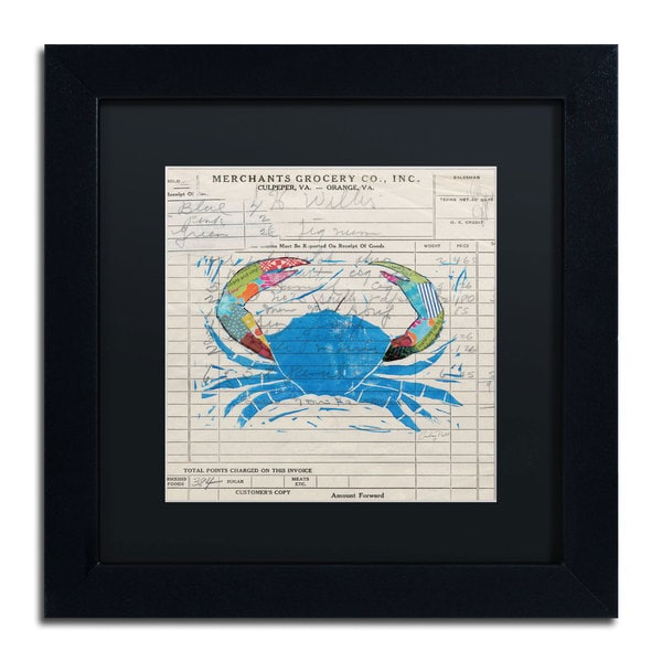 Courtney Prahl 'Fresh from the Sea I' Black Matte, Black Framed Wall Art