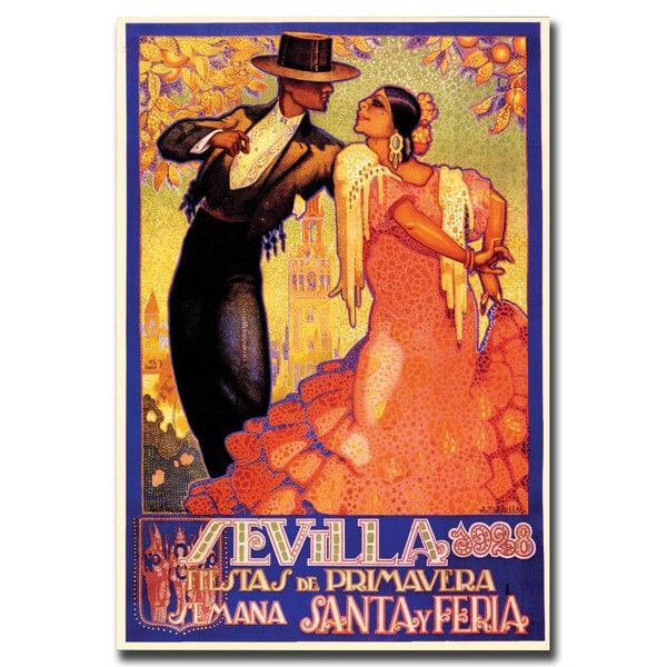 Da Pena 'Sevilla Fiestas de Primavera' Canvas Art